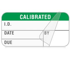 "Calibration Label, 1-1/2"" x 3/4"" - ULQA098"