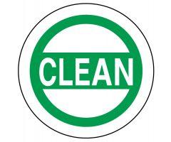 """CLEAN Label, 1-1/2"""" x 1-1/2"""""""