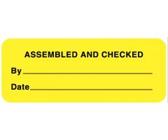 "Assembly and Inspection Labels, 2-1/4"" x 7/8"""