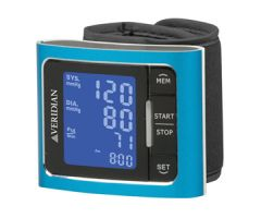Veridian Metallic Style Wrist Blood Pressure Monitor Blue