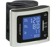 Veridian Metallic Style Wrist Blood Pressure Monitor Silver