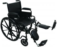 "Wheelchair with 20"" x 16"" Seat, Flip-Back Desk Arms, Elevating Legrests"