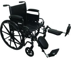 "ProBasics K2 Wheelchair with 20"" x 16"" Seat and Elevating Legrests"