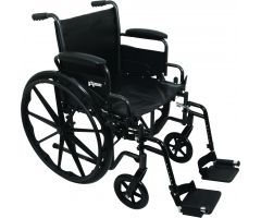 "ProBasics K2 Wheelchair with 20"" x 16"" Seat and Swing-Away Footrests"