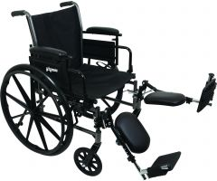 "Wheelchair with 16"" x 16"" Seat, Flip-Up Height Adj Desk Arms, Elevating Legrests"