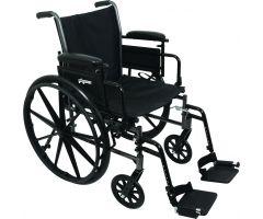 Wheelchair with Seat, Flip-Up Height Adj Desk Arms, Swing-Away Footrests