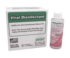Multi-Clean Viral Disinfection Deluxe Kit Refills, 2 oz. Bottle, 6 Bottles/Case - 902299