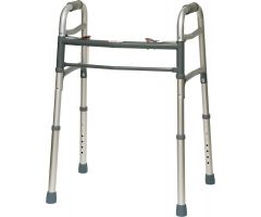 ProBasics Aluminum Two-Button Release Folding Walker Without Wheels